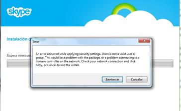 Actualizacion de Skype